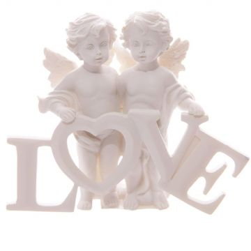 Cherub Couple Standing with LOVE Letters CHE82